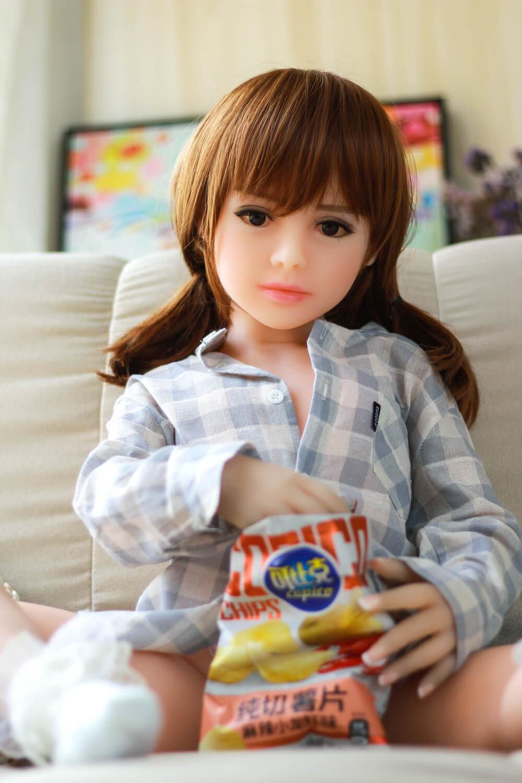 100CM Flat Chested Sex Doll - Mariko