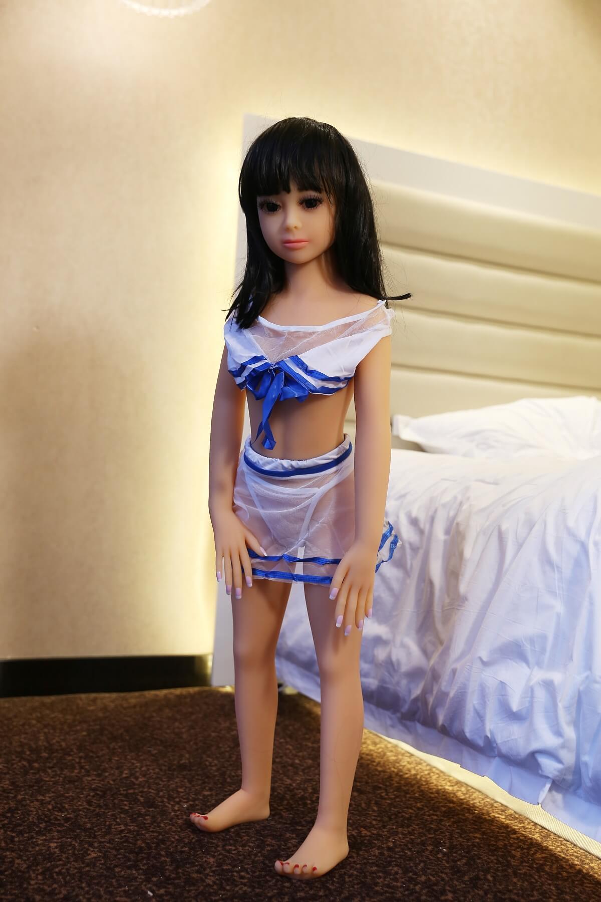 100 cm sekspop met platte bovenlijf - Barbie